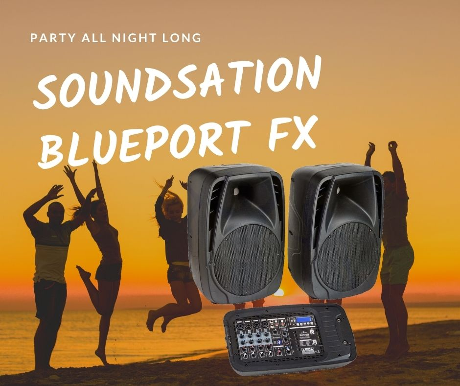 """""""Party all night long"""" Poate fi cea mai buna alegere,  2 x 200 W - Blueport PA"""