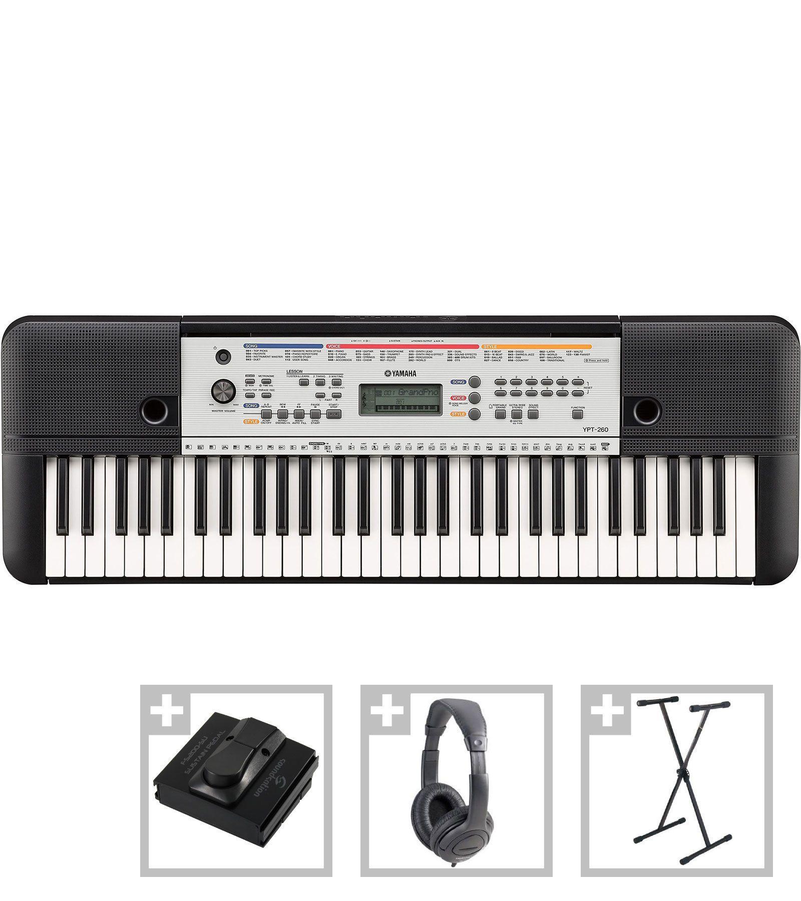 yamaha ypt 260 set orga electronica pro set music. Black Bedroom Furniture Sets. Home Design Ideas