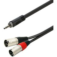 Soundsation GL-JSM2XM3 - Cablu Adaptor Jack-XLR 3 m - Music and More