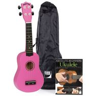 Set Ukulele Pure Tone Ukulele Hot Pink