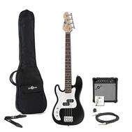 Set bass electric pentru stangaci Gear4music LA 3/4 BK