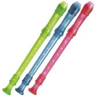 Set 3 Blockflote Yamaha YRS-20 - Pink, Blue, Green