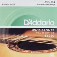 D'Addario EZ920 - Set Corzi Chitara Acustica - Music and More