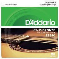 D'Addario EZ890 - Set Corzi Chitara Acustica - Music and More