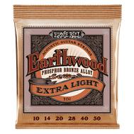Ernie Ball Earthwood Extra Light Phosphor Bronze 2150 - Set Corzi Chitara Acustica - Music and More