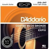 D'Addario EXP10 - Set Corzi Chitara Acustica - Music and More