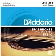 D'Addario EZ940 - Set Corzi Chitara Acustica 12-String - Music and More