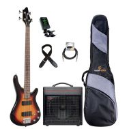 "Soundsation GUNBARREL-4 3TS ""Basic Plus Set"" - Set Chitara Bass, Amplificator, Husa, Tuner si Cablu"
