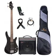 "Soundsation GUNBARREL-4 BK ""Basic Plus Set"" - Set Chitara Bass, Amplificator, Husa, Tuner si Cablu"