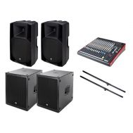 Sistem Profesional de Sonorizare - Tempo Stage Sound 1518RCF (2 x 2500W) - Music and More