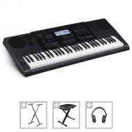 Casio CTK-6200 - Set Orga Electronica + Stativ + Bancheta + Casti - Music and More