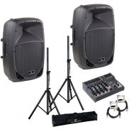 Soundsation GO-Sound 15A - Set Boxe Active - 1000W, Mixer, Stative si Cabluri - Music and More