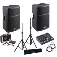 Soudsation HYPER Top 15A - Set Boxe Active - 1000W, Microfon Wireless, Mixer, Stative si Cabluri - Music and More