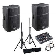 Soundsation HYPER Top 12A - Set Boxe Active - 1000W, Mixer, Stative si Cabluri - Music and More
