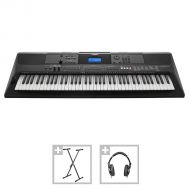 Yamaha PSR-EW400 - Set Orgă Electronică + Stativ + Casti + 3 Seturi Ritmuri Folclor - Music and More