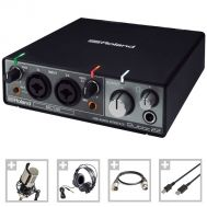 Interfata Audio + Microfon Studio + Casti + Cablu XLR + Cablu USB - Roland Voxtaker Recording Set - Music and More