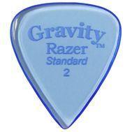 Pana chitara Gravity Picks Razer Standard 2.0mm Polished Blue, fig. 1