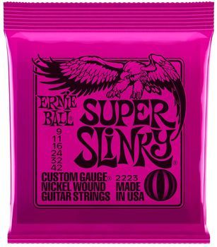 Ernie Ball Super Slinky 2223 - Set Corzi Chitara Electrica - Music and More