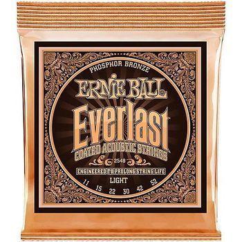 Ernie Ball Everlast Light Coated Phosphor Bronze 2548 - Set Corzi Chitara Acustica - Music and More