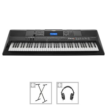 Yamaha PSR-EW400 - Set Orgă Electronică + Stativ + Casti + 3 Seturi Ritmuri Folclor - Music and More