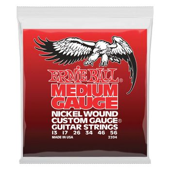 Ernie Ball Medium Gauge Nickel Wound 2204 - Set Corzi Chitara Electrica - Music and More