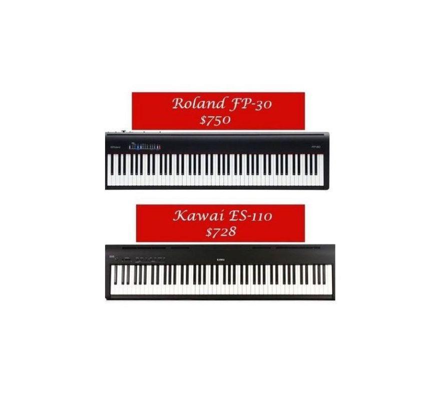 Kawai ES110 vs Roland FP-30 - O Comparatie - Music and More